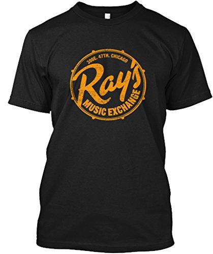 Teespring Unisex Rays Music Exchange Hanes Tagless T-Shirt Large Black