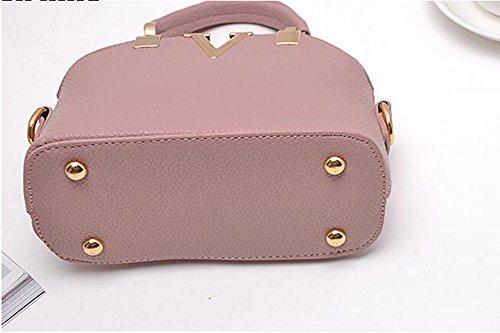 Paquet Femme Sac LXYIUN Mode Pink Multifonction Fête Rivets Sac Main À Cuir Red À De Petit Faux pour xOOI0wqB