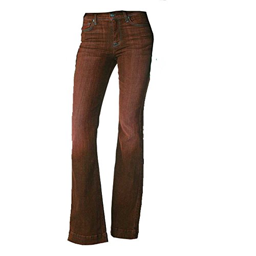 7 For All Mankind Women's Petite Size Tailorless Ginger Jean (Short Inseam), Bordeaux Broken Twill, 29 by 7 For All Mankind