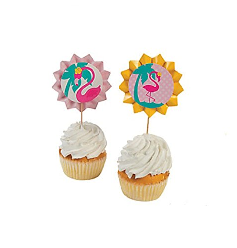 Flamingo-Luau-Fan-Cupcake-Food-Picks-25-Pc-by-FE