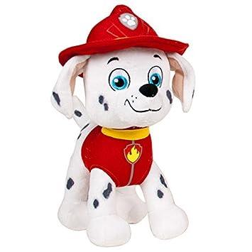 Patrulla canina (PAW PATROL) - Peluche personaje Marshall, Dalmata bombero (20cm de pie) Calidad super soft - Color Rojo-: Amazon.es: Juguetes y juegos