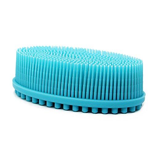 Silicone Body Brush Shower Bath Soft Shampoo Head Scalp Body Massager Dirty Brushing