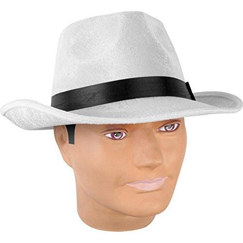 Adult White Velvet Fedora Costume Hat (Hat Velvet Pimp)