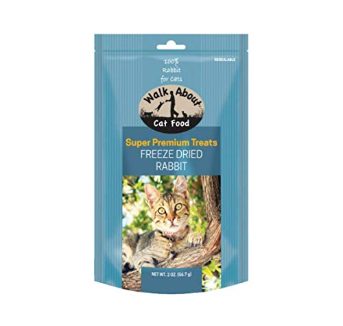Walkabout Pet Treats Wa20006 Freeze Dried Treats For Cats Rabbit Pet-Jerky-Treats, 2 Oz