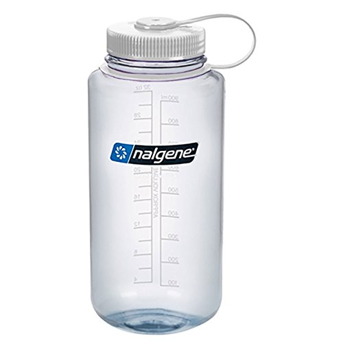 - Nalgene Wide Mouth Bottle - 32 oz., Clear w/ White Cap