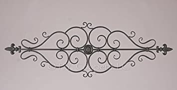 Merveilleux Wrought Iron 35u0026quot; X 12u0026quot; Wall Decor Door Topper