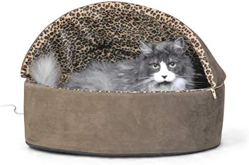 K&H PET PRODUCTS Thermo-Kitty Deluxe Hooded Cat Bed 23