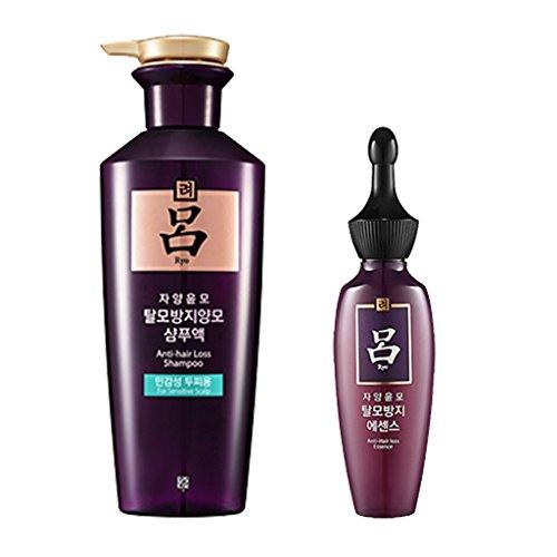 Ryoe Jayang Yoon Mo Anti Hair loss Shampoo For Sensitive Scalp 13.53Oz/400Ml + Essence 2.53Oz/75Ml
