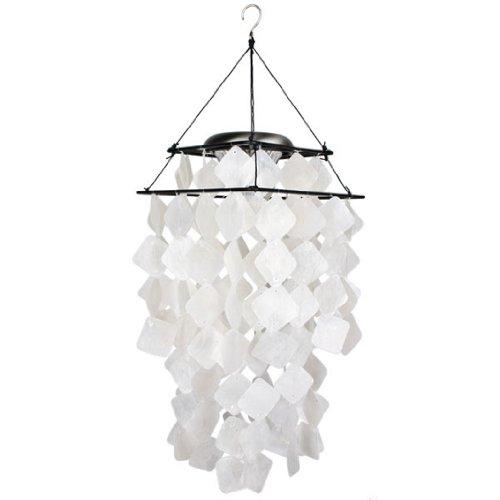 Cheap Woodstock Capiz Solar Chime- White Diamonds- Asli Arts Collection