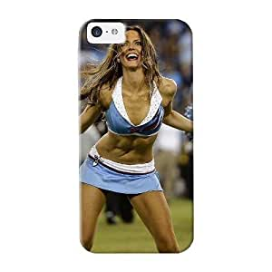Case For Iphone 5c Tpu Phone Case Cover(tennessee Titans Nfl Cheerleaders) For Thanksgiving Day's Gift