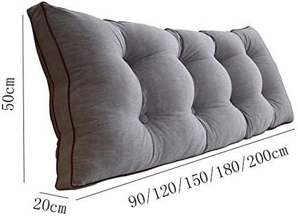 LFOZ Amovible Coussins de Dossier de Chevet, Canapé-lit Tête de lit capitonnée, Soft Tatami Double Grand Coussin de Soutien Lombaire (Color : W, Size : 180x20x50cm)