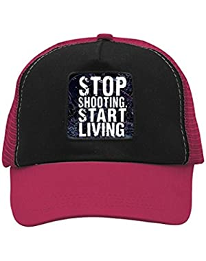 Unisex Stop Shooting Start Living Trucker Hat Adjustable Mesh Cap
