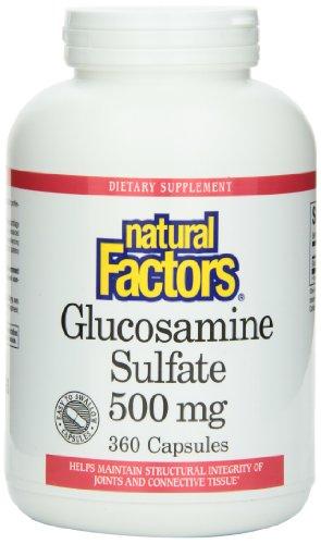 Природные факторы глюкозамина сульфата 500 мг капсулы, 360-граф