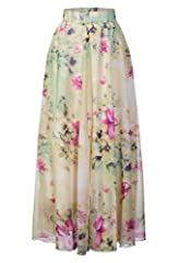 This is real life babe! You're about to be serving up a casually cool slay with this luscious floral print chiffon maxi skirt. Marvel at the bold floral print of this gossamer maxi frock, you adore your reflection in this skirt as much as you...