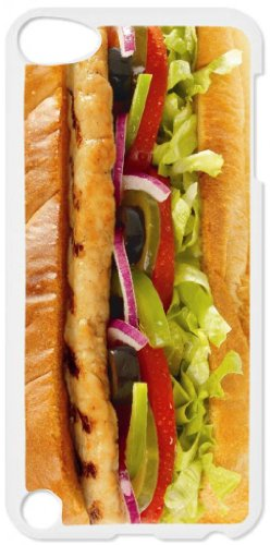 Subway Chicken Sandwich White plastic snap on case - for the Apple iPod iTouch 5th Generation.