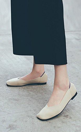 Suave de Estiramiento Cabeza Manera DIDIDD Zapatos de Transpirable Inferior Albaricoque de del Pa de o Cuadrada la Parte Suave la Perezosos Boca la la del 35 zzRPxZfq