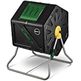 Miracle-Gro Single Chamber Outdoor Garden Compost Bin - Large Volume, Compact Design 27.7 Gallon (105 Liter) Capacity - Heavy Duty, Easy to Assemble Tumbling Composter