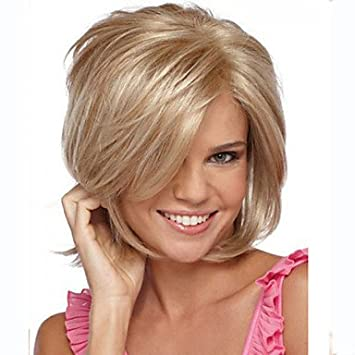 hjl de atractivo Oro páginas de cresta Kanekalon de la Mujer corta peluca, Blonde: Amazon.es: Deportes y aire libre