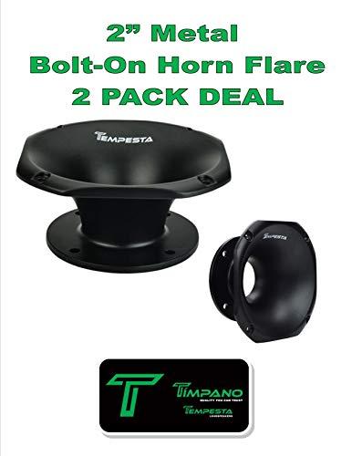 "(2) 1 Pair Timpano TPT-H14-50 Slim 2"" Exit Throat Speaker Horn Waveguide 4 Bolt ()"