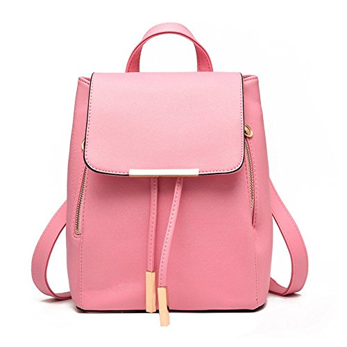 Jonon Women's Modern Design Deluxe Fashion Backpacks (L, PINK) by JONON