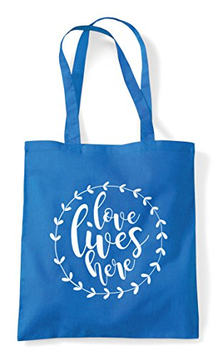 Bag Wreath Sapphire Love Statement Shopper Lives Tote Simple Here qxwFOBgS
