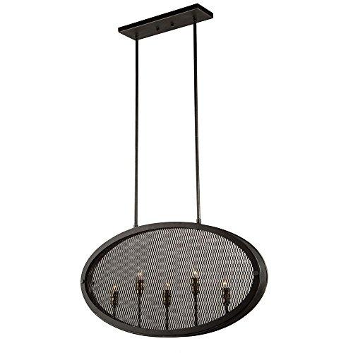 Riverside Ceiling Fan (Artcraft Lighting Artcraft AC10833GB Riverside 5-Light Pendant, Granite Black & Vintage Brass 5, Granite Black and Vintage Brass)