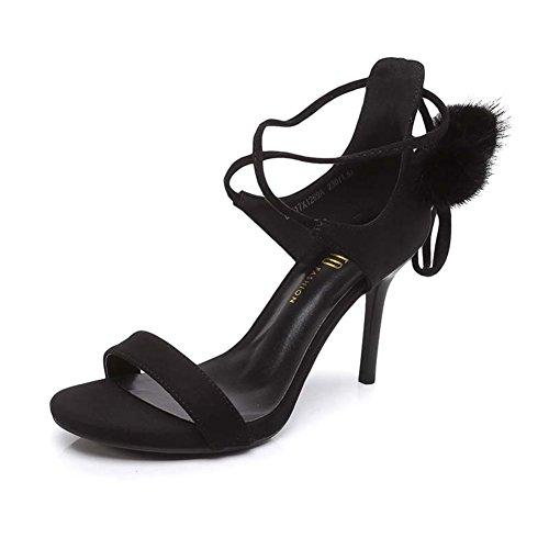 La Palabra Sexy Con Tacones En Verano,Las Se?oras Sandalias De Tiras Negro