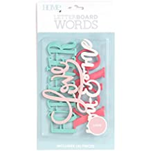 American Crafts 4 Piece Word Pack Love Die Cuts with a View Letterboards