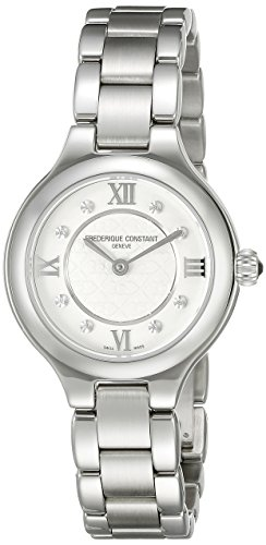 Frederique Constant Women's FC200WHD1ER36B Delight Analog Display Swiss Quartz Silver Watch