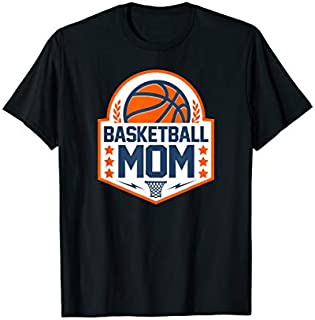 Cool Gift Basketball Mom Basketball Player Gift  Women Long Sleeve Funny Shirt / Navy / S - 5XL
