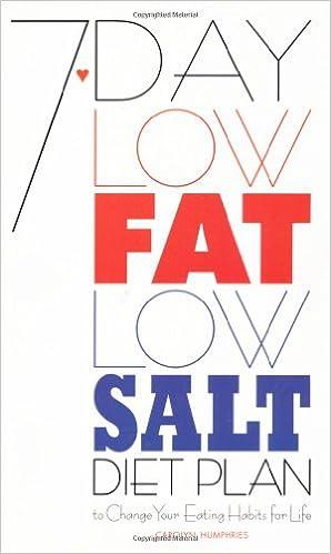 7-Day Low Fat/Low Salt Diet Plan