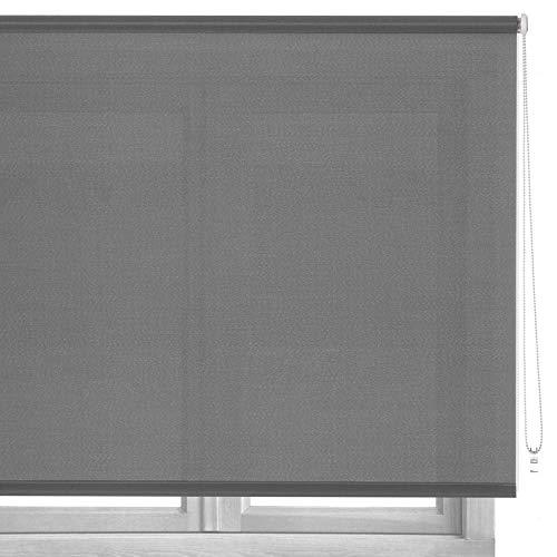 LOLAhome Estor Enrollable de Tela (140 x 250 cm, Gris)