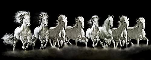 Art Factory Feng Shui Eight Horse Canvas Painting (Limited Edition)