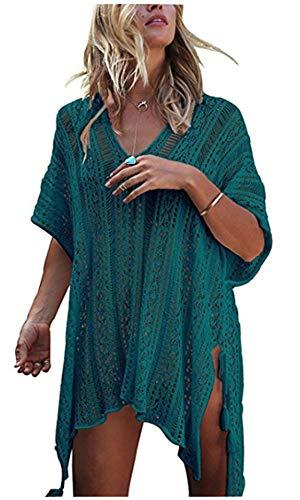 HARHAY Women's Summer Swimsuit Bikini Beach Swimwear Cover up Peacock Blue