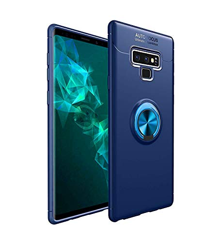 HYAIZLZ Kickstand Galaxy Note 9 Case Soft TPU Hidden Kickstand Note 9 Back Case Cover with Car Magnet Function for Samsung Galaxy Note 9,Color Blue - Shaft Kick Point