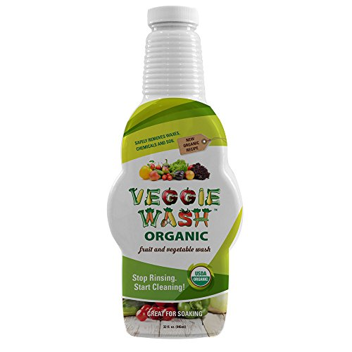 Veggie Wash Organic Fruit and Vegetable Wash Soaker, 32 Fluid Ounce