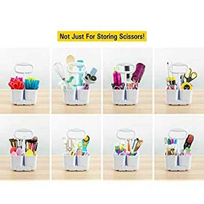 Stanley Removable 4 Cup Scissor Caddy and Guppy 5-Inch Blunt Tip Kids Scissors, 24 Pack (SCICAD-BT24) : Office Products