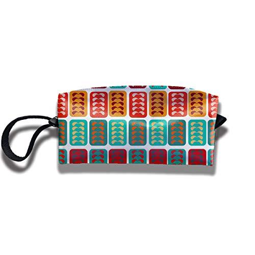 Cosmetic Bags With Zipper Makeup Bag Color Bricks Middle Wallet Hangbag Wristlet -