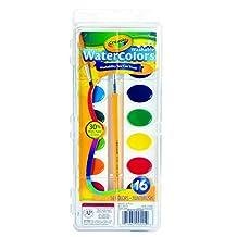 Crayola Washable Watercolour Paint Set, 16 Colours