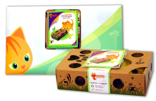 Cat Amazing – Best Cat Toy Ever! Interactive Puzzle Box Game for Cats, My Pet Supplies