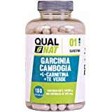 Garcinia + L-carnitine + thé vert Complément minceur naturel à base de thé vert pour brûler les graisse, augmenter la force et accélérer la récupération 180capsules
