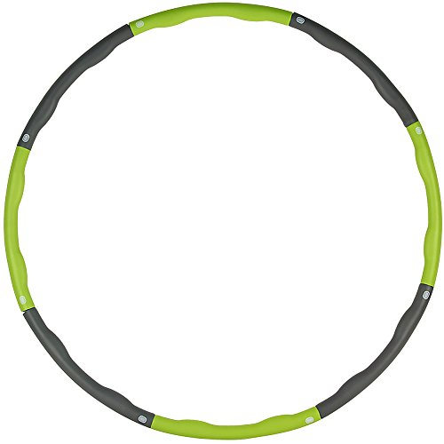 Weighted Hula Hoop,Removable Hula Hoop,Hula Hoop Fitness Exercise Workout GYM Professional Weighted,2.2lb,Abdominal Massage Weight Loss Waist Slimming Fitness Workout(Green)