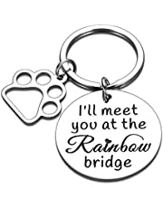 Dog Pet Memorial Gifts Keychain for Pet Lover Sympathy Loss of Dog Pet Gifts Remembrance Condolences Pet Dog Gifts Keepsake Rainbow Bridge Jewelry Gifts for Women Men