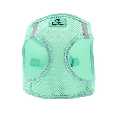 Doggie Design American River Step In Wrap Up Ultra Choke-Free Mesh Dog Harness with Safe Night Walking Reflective Strips (Soft Mesh Polyester, Machine Wash and Line Dry) (M, Teal)