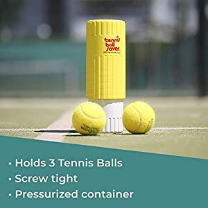 Gexco Tennis Ball Saver - Pressurized Tennis Ball Storage That Keeps Balls Bouncing Like New