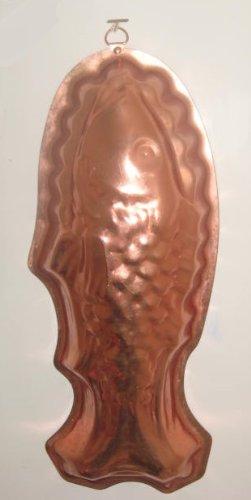 (Copper Tone (Straight) Fish Shaped Jello Mold 13