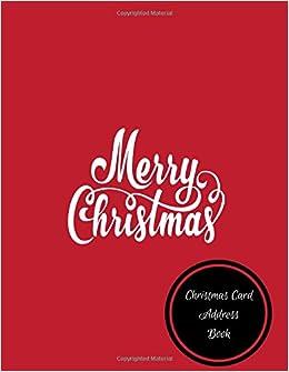 Christmas Card Address Book: Christmas Card Log