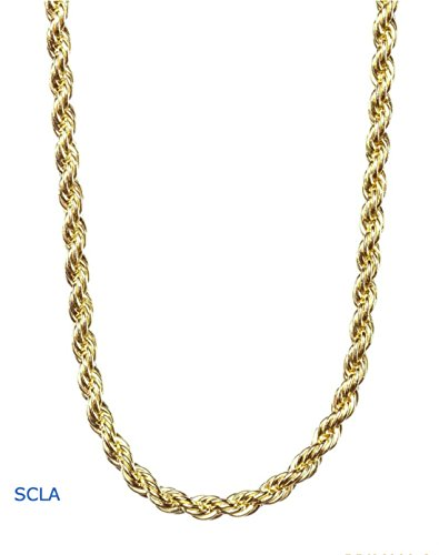 16' 14k Gold Filled Rope (Gold Chain Necklace 24K Overlay 2MM USA Made,, great for a pendant (28, gold-filled))