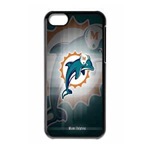 WY-Supplier Popular NFL Miami Dolphins Logo of Apple iphone 5c phone case, Seal 575, Miami Dolphins Apple iphone 5c Premium Hard Plastic Case Covers