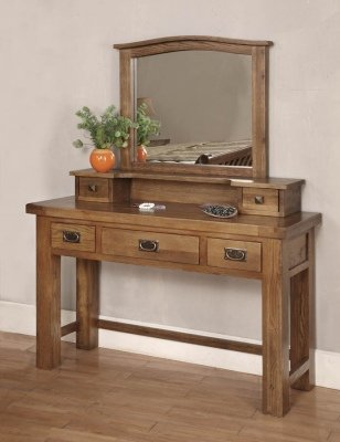 newest 3cd4c a4dbc York reclaimed solid oak wood furniture dressing table ...